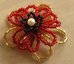 цветок из бисера схема плетения