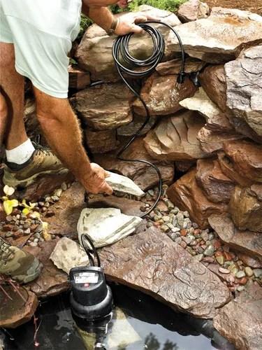Делаем водопад из камней