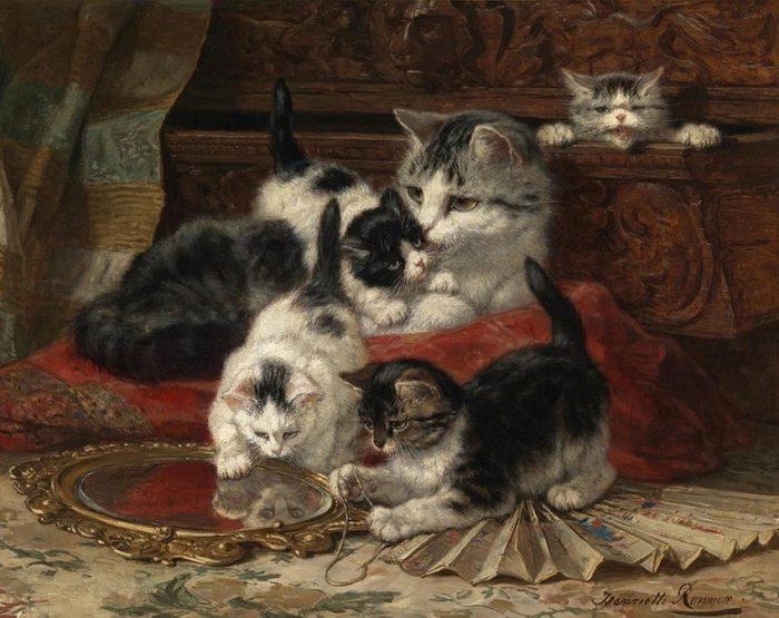 Генриетта Роннер-Кнайп. Картины с кошками.