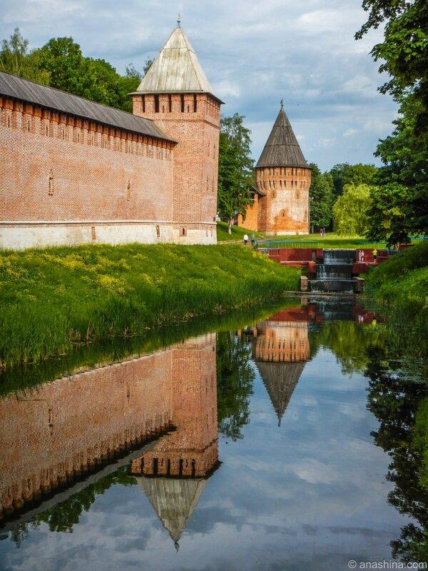 Громовая башня и башня Бублейка, Лопатинский сад, Смоленская крепость, Смоленск