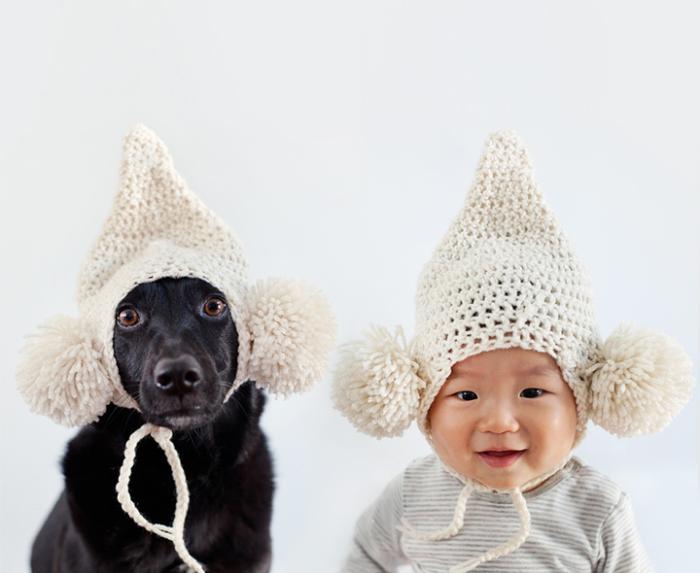 Детская шапка с бубонами