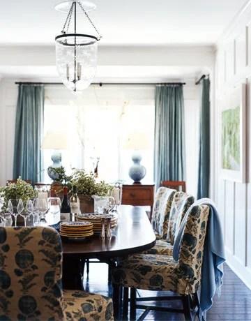 интерьер дома в синих тонах