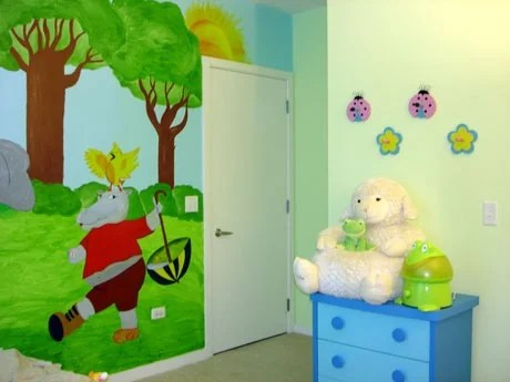 роспись на стене детской
