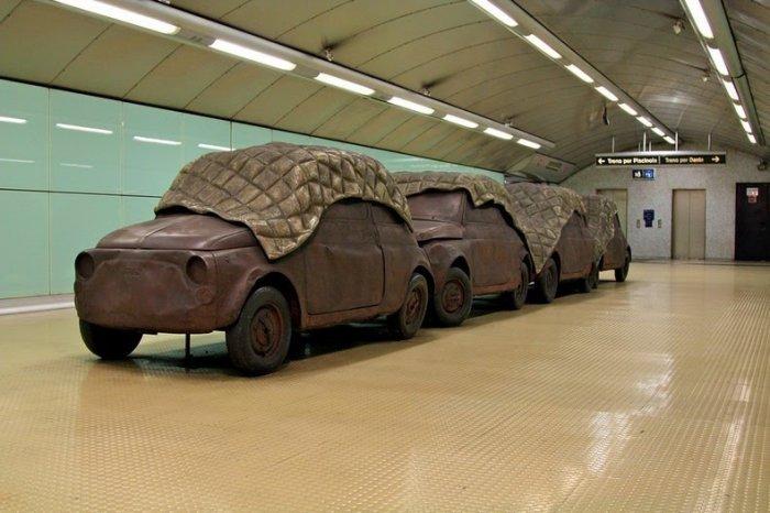 Галерея современного искусства в метро Неаполя. Проект «Stazioni dell'Arte». 30 фото