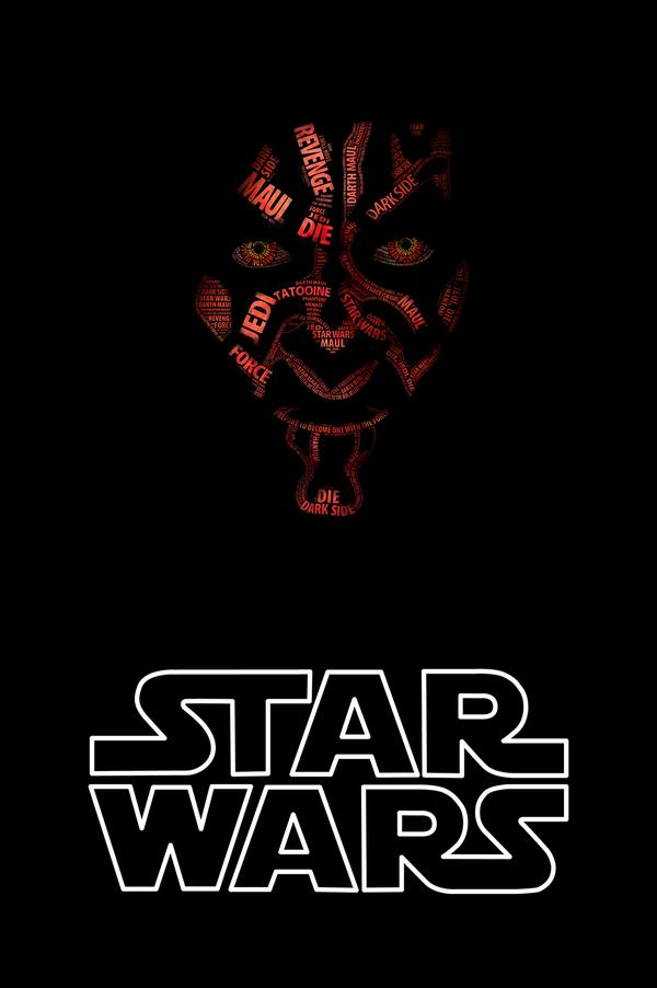 Герои Star Wars в типографике. 27 разнообразных графических воплощений