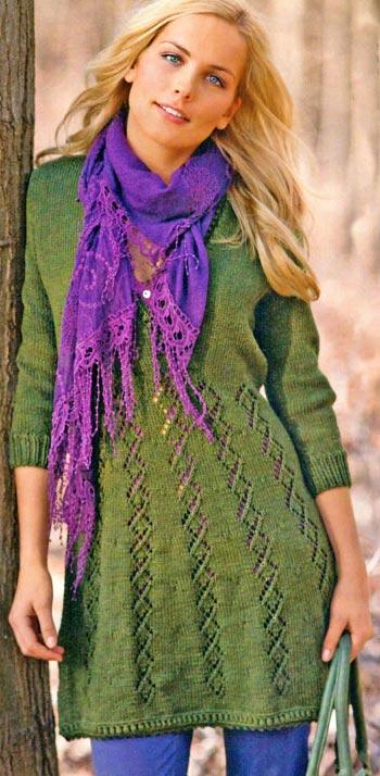 вязаное платье с описанием