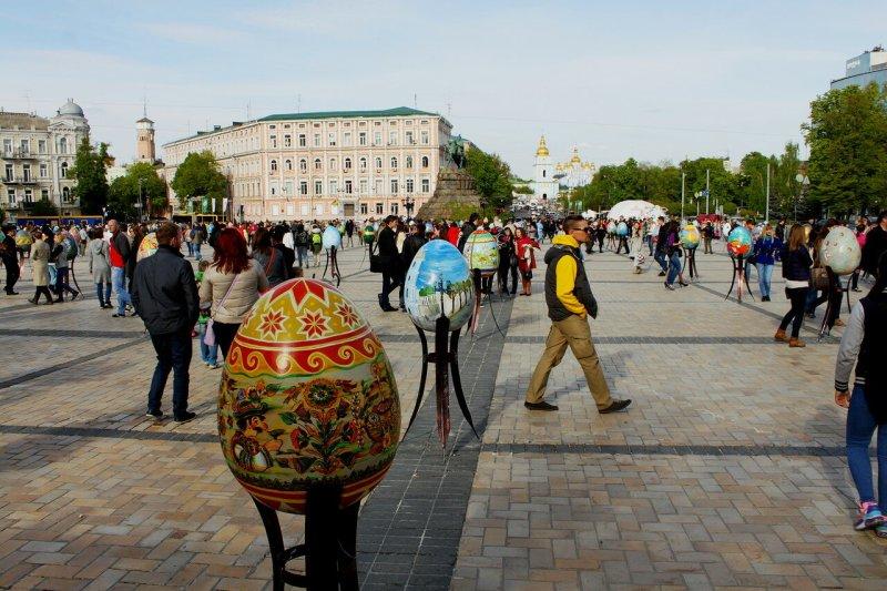 Софиевская площадь накануне Пасхи