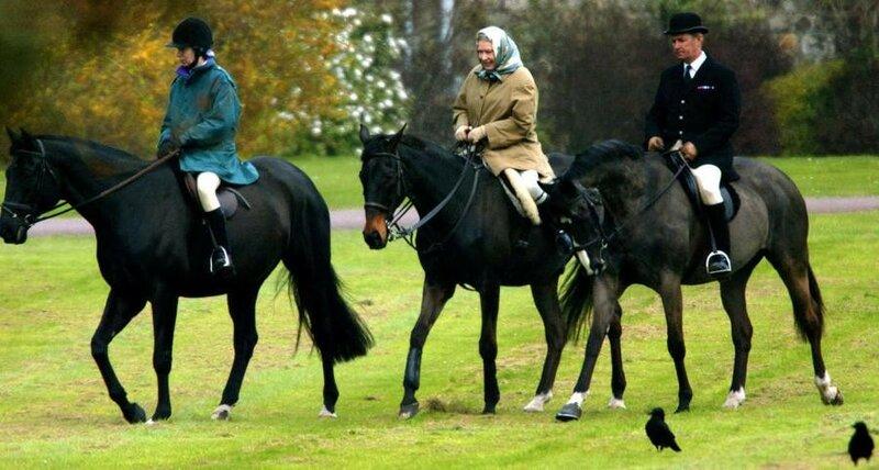 Фотографии маленькой королевы Елизаветы II и ее лошадей