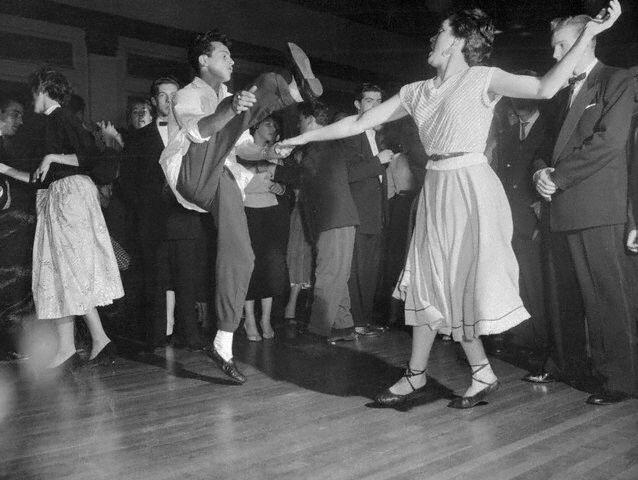 Teenagers Dancing to Rock' n Roll