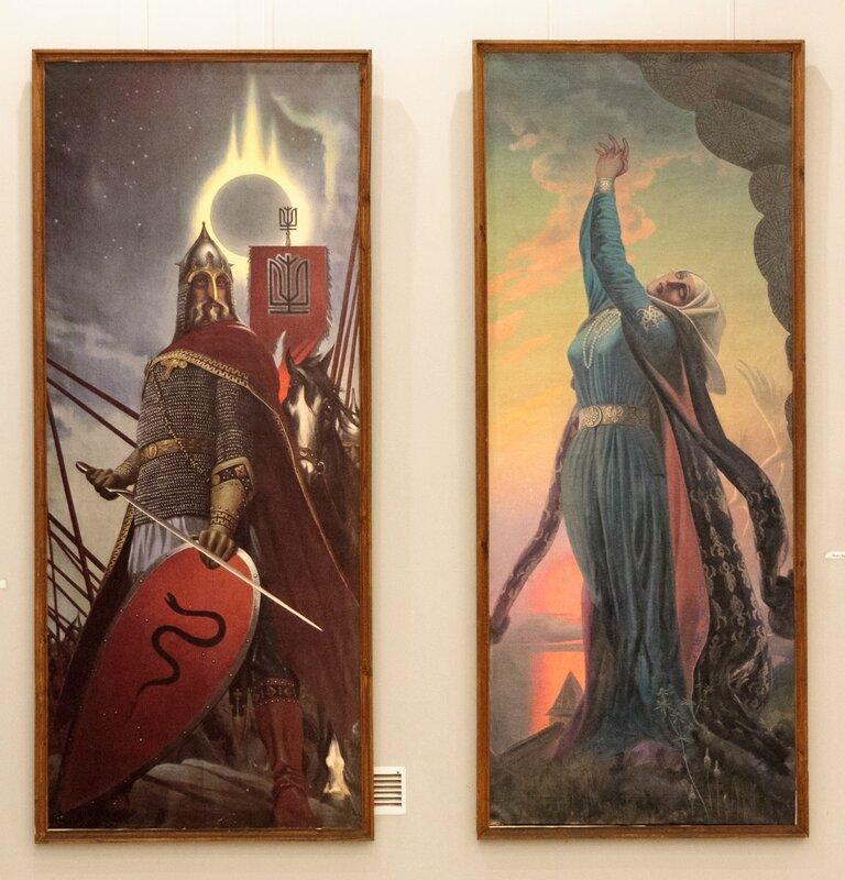 """""""Князь Игорь"""" и """"Плач Ярославны"""", диптих, Константин Васильев"""