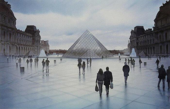 Пирамида в Лувре. Автор: Thierry Duval.