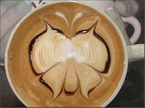 Latte art - рисунок в кофейной чашке