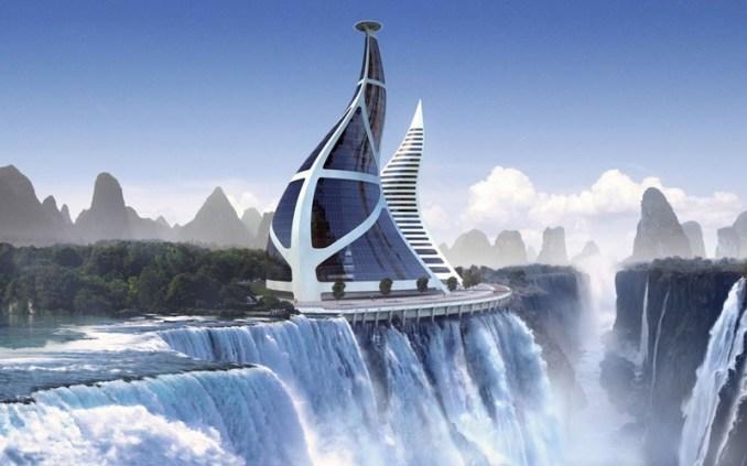 Фантастический Мир будущего в картинках: города будущего