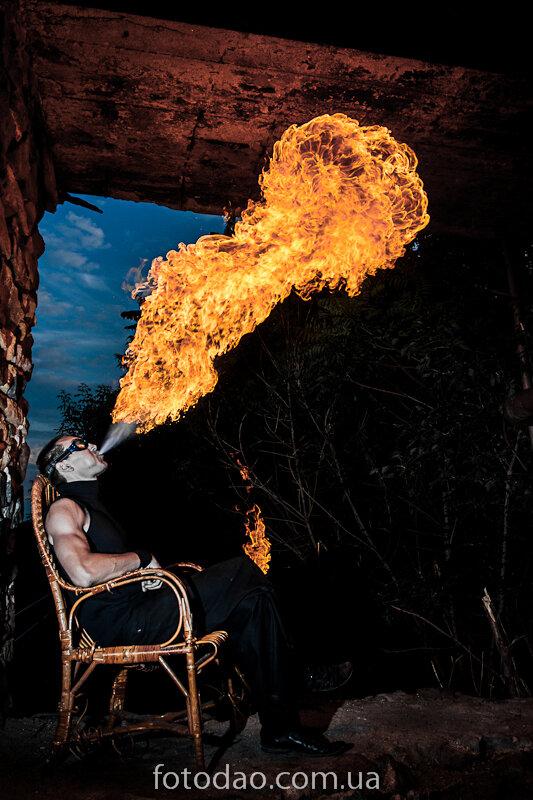 Огни Донбасса. Ночная жизнь фаерщиков