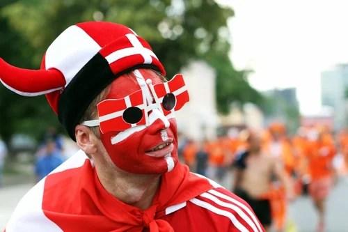 Denmark football fans