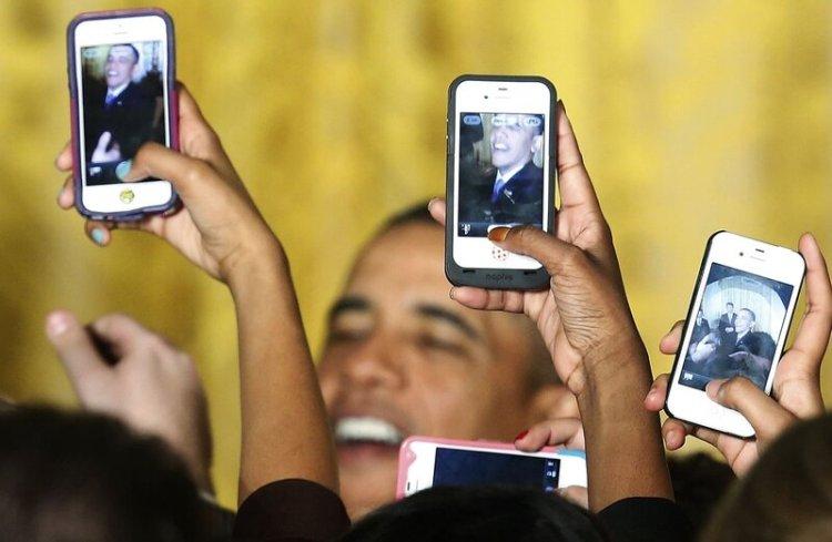 Обама и смартфоны