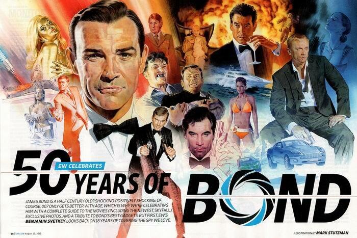 5 октября   Всемирный день Джеймса Бонда   50-летие `Бондианы`в кинопостерах