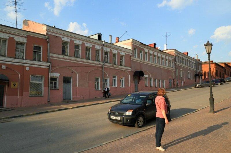 Дома вдоль Рождественской улицы, Нижний Новгород