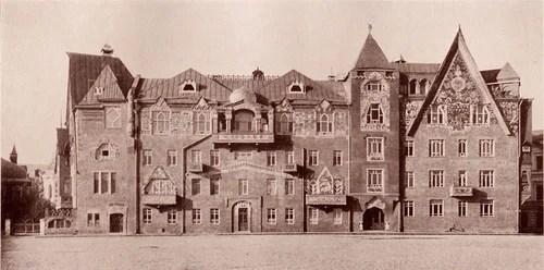Дом Перцова, вид до стороны храма Христа Спасителя. Фото 1904–07 годов