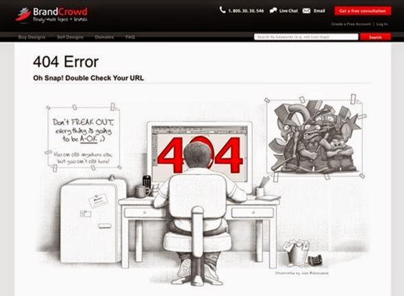 Примеры крутых страниц ошибки 404 error