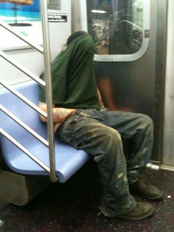 Странные пассажиры Америки в общественном транспорте