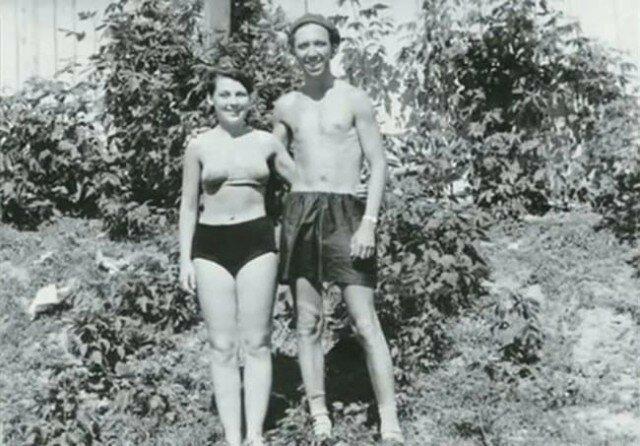 Юрий Никулин с супругой на отдыхе