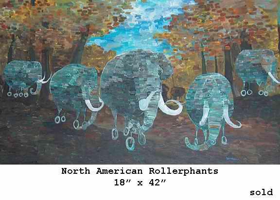 Geoffrey Benzing / Джеффри Бензинг. Живопись. Киты, слоны, совушки и др.