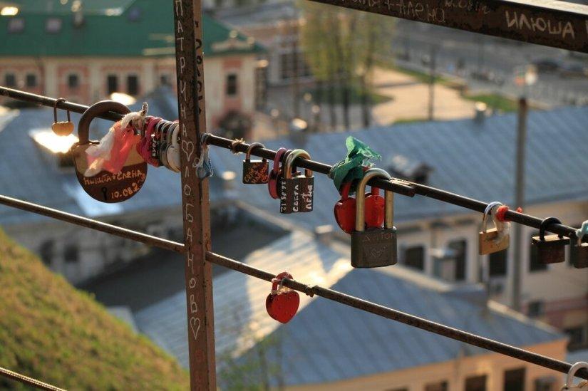 Замочки влюбленных, Нижний Новгород