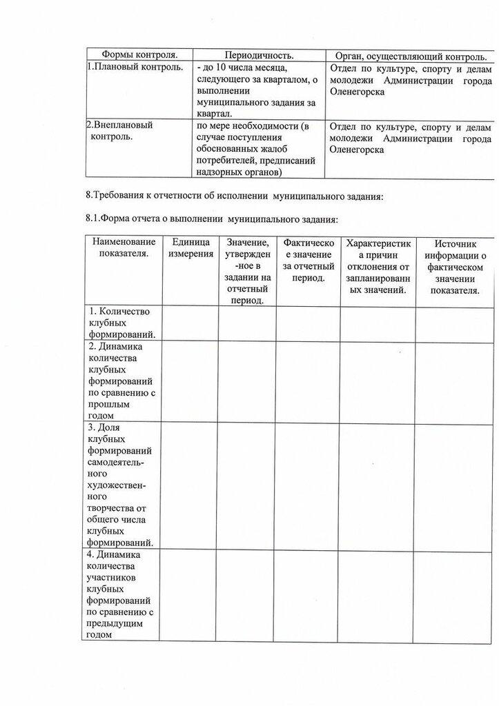 """Муниципальное задание МУК ЦКиД """"Полярная звезда"""" на 2014 год"""