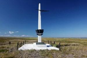 Памятник в честь перелета на остров Удд