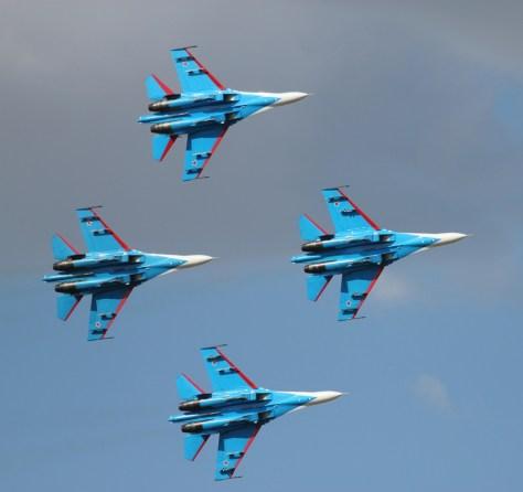 4 Су-27 Русских Витязей в Кечкемете