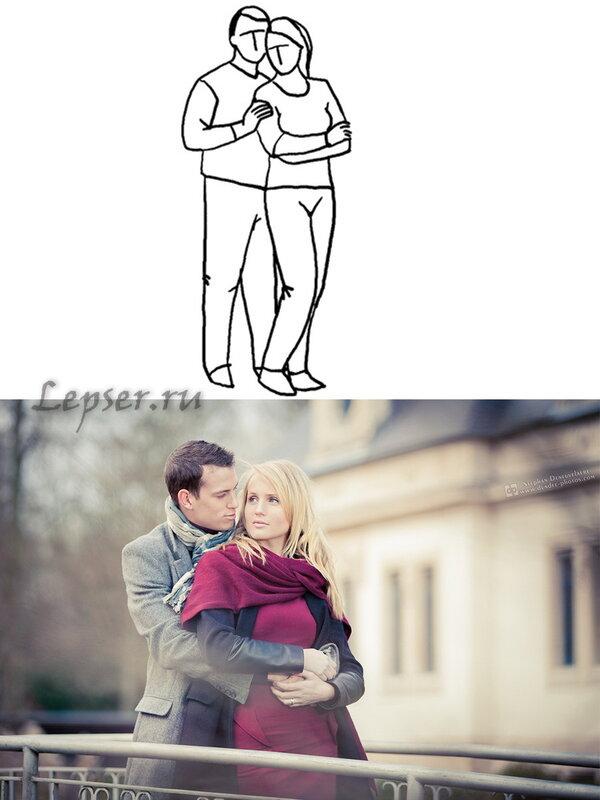 как правильно фотографироваться парами сделать