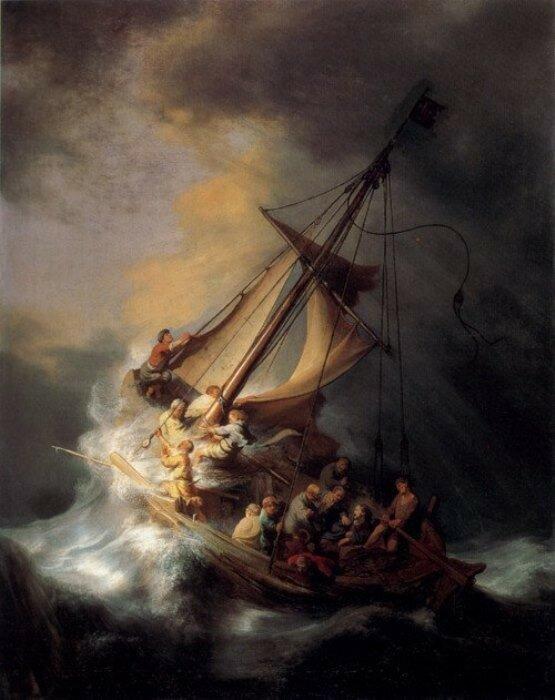 Рембрандт ван Рейн, *Шторм на море Галилейском*