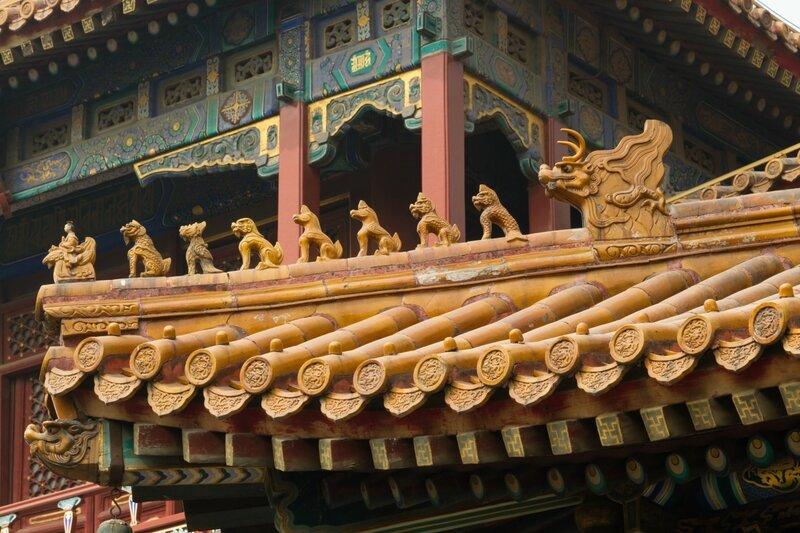 Драконы и собачки, монастырь Юнхэгун, Пекин