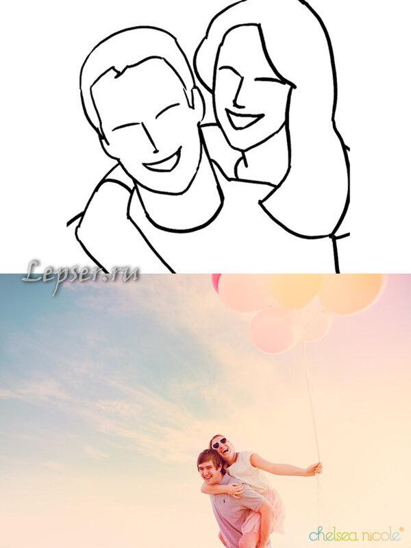 как сфотографироваться паре самим