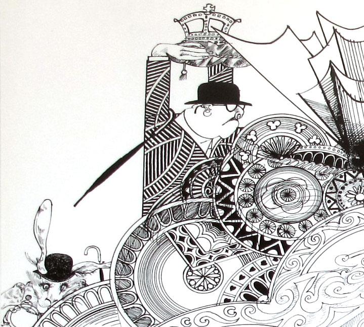 """""""Алиса в стране чудес"""" и чудесные иллюстрации Ральфа Стедмана / Ralph Steadman"""