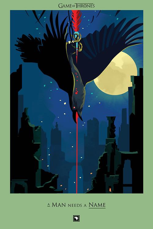 Роберт Болл / Robert M. Ball | Игра престолов / Game of Thrones | Серия постеров `Beautiful Death`