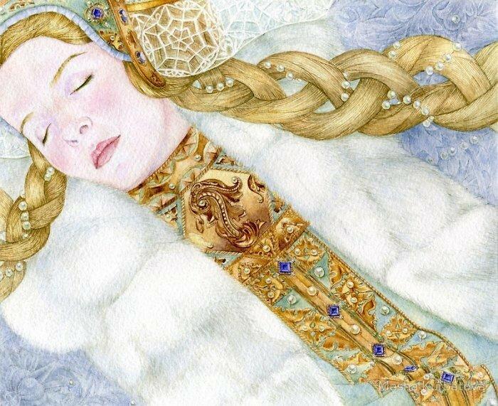 'Снегурочка', акварель Марии Курбатовой