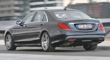 Mercedes вид сзади