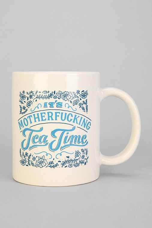 It39s Tea Time Mug Blue Multi One from Urban Outfitters