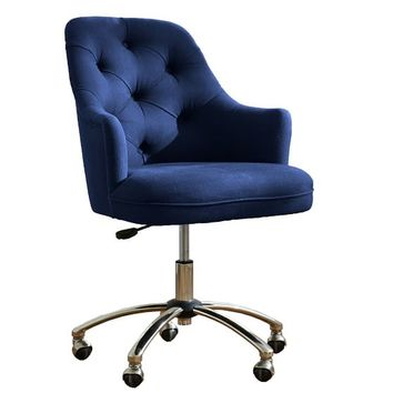 Tufted Desk Chair Navy from PBteen