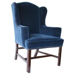 Navy Blue Wingback Chairs La Z Boy Office Chair Parts Barclay Butera Hudson Velvet From One Kings Lane