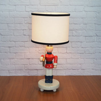 vintage nursery lamp irmi nursery originals wooden soldier boy lamp