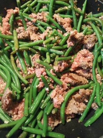 Ground Beef and Green Beans