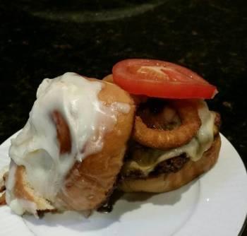 Brad's cinnamon roll burger