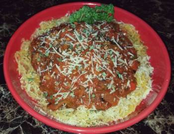 Mike's Spaghetti Squash & Red Vegetable Sauce