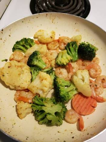 Keto Seafood Stir fry