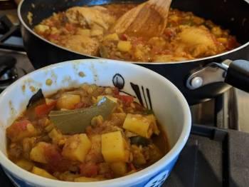Tandoori Chicken Dal Curry