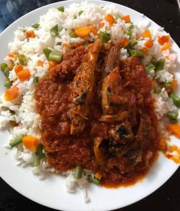 Palm oil stew rice