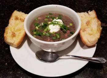 Black Bean (w/ Ham) Soup